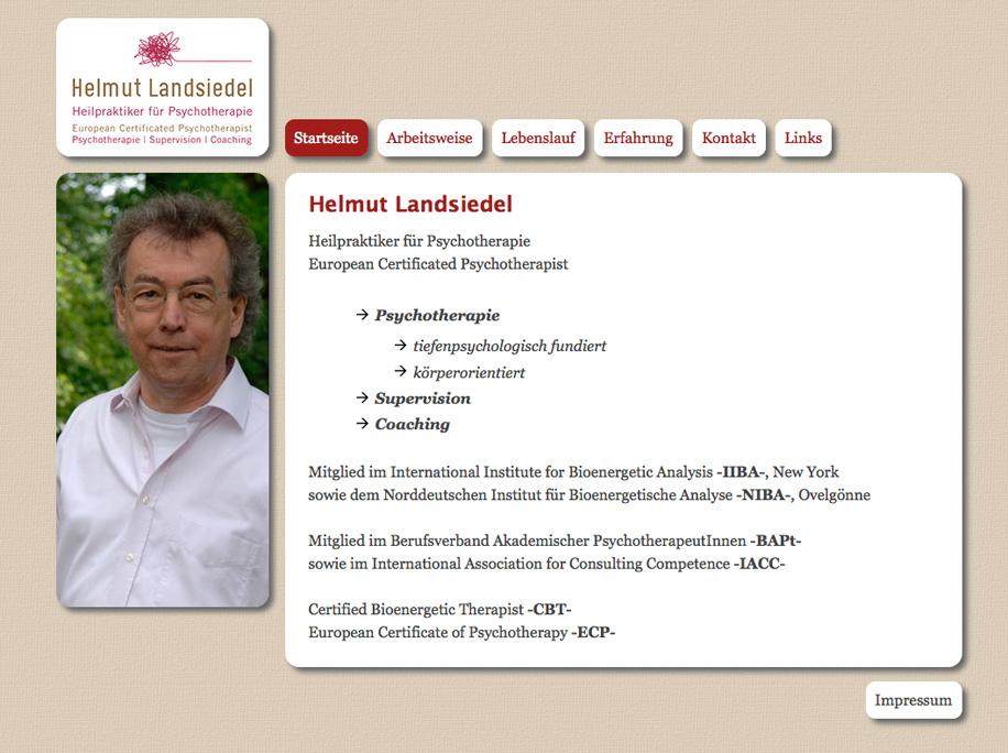 Screenshot: helmutlandsiedel.de